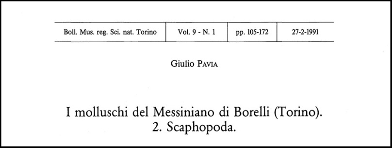 Pavia title page